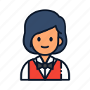 avatar, waitress, woman icon