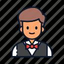 avatar, occupation, profession, waiter icon