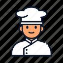 avatar, chef, occupation, profession, restaurant icon