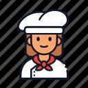 chef, occupation, avatar, profession, restaurant icon