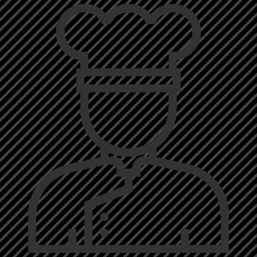 chef, cooking, food, kitchen, restaurant, uniform, user icon