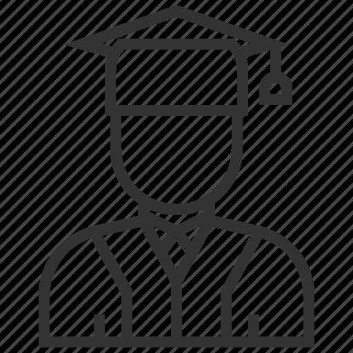 avatar, college, education, graduate, school, university, user icon