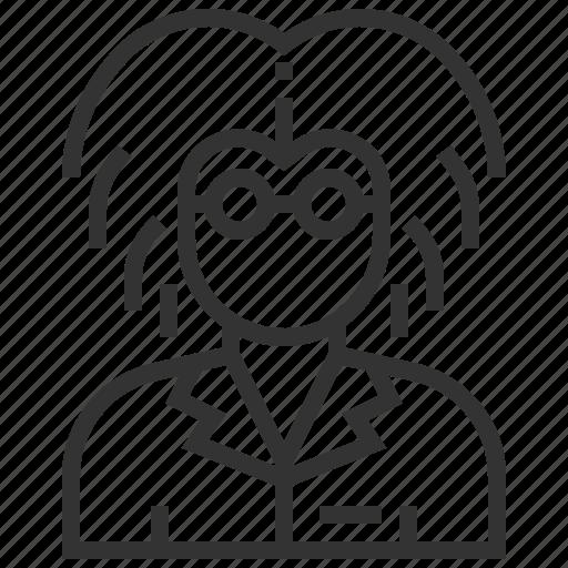 avatar, people, person, professor, profile, scientist, user icon