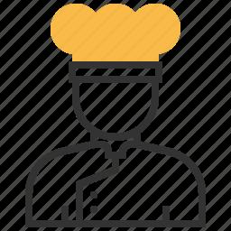 chef, cook, hat, uniform icon