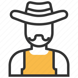 avatar, cowboy, hat, people icon