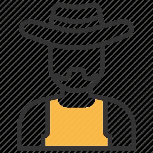 avatar, cowboy, hat, people icon