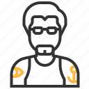 avatar, business, finance, hipster, man, person, profile icon