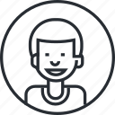 avatar, boy, character, line, people, portrait, profile icon