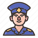 avatar, employee, face, male, man, policeman, uniform icon
