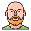 avatar, beard, face, male, man, people, trainer icon