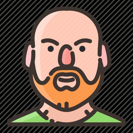 avatar, beard, face, male, man, people, trainer icon