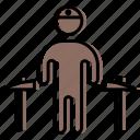 coalman, collier, human, man, mine, miner, people icon