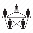 connection, people diagram, people network, relationship, social network icon