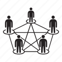 communication, connection, network, people, people network, social network icon