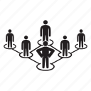 leader, people, people connect, teamwork icon