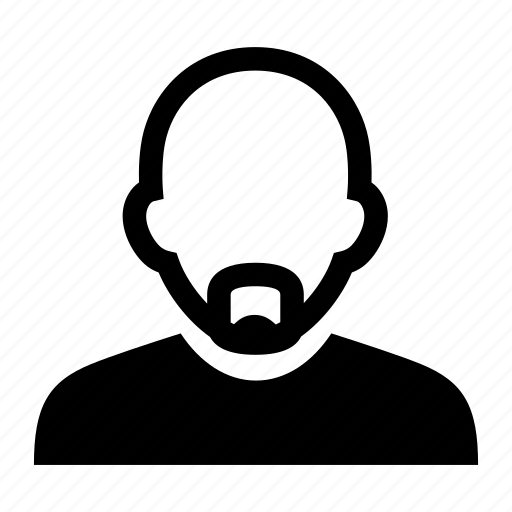 bald, face, male, man, mustache, portrait icon