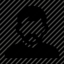 face, male, man, mustache, portrait icon