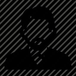 businessman, elderly, face, male, man, mustache, older, portrait, suit icon