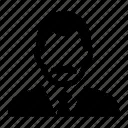 businessman, face, male, man, portrait, suit icon