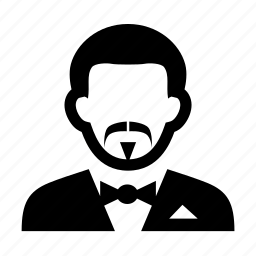 face, man, mustache, portrait, professional, suit, tuxedo icon