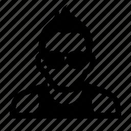 face, glasses, male, man, portrait, punk icon