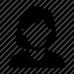 face, female, portrait, short hair, woman icon
