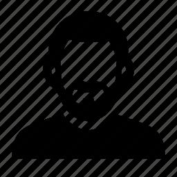 beard, face, male, man, portrait icon