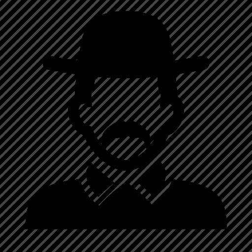 beard, elderly, face, hat, male, man, old, portrait icon