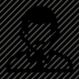 businessman, face, female, male, mustache, neat, portrait, professional, suit icon