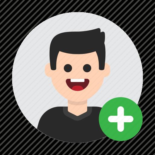 add, contact, more, new, plus, profile, user icon