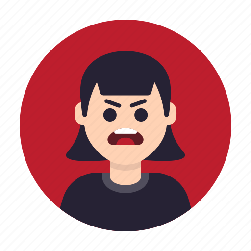 Anger, angry, avatar, furious, mad, unhappy, woman icon - Download on Iconfinder