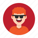 avatar, boy, happy, kid, man, person, sunglasses icon