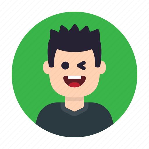 Boy, fun, human, male, man, person, wink icon - Download on Iconfinder
