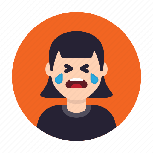avatar, cry, emotion, sad, sadness, tears, woman icon