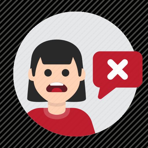 Cancel, decline, error, mistake, negative, no, refuse icon - Download on Iconfinder