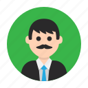avatar, dad, gentleman, man, mister, moustache, teacher icon