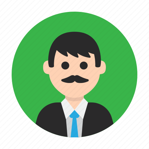 avatar, dad, gentleman, man, mister, moustache, teacher icon