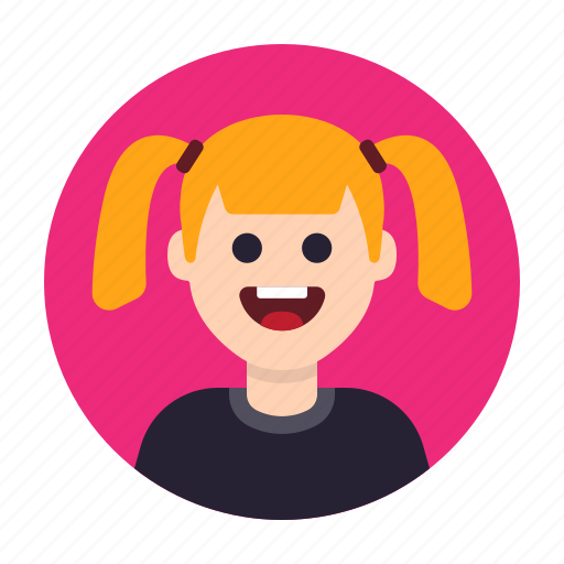 Avatar, emoji, girl, happy, kid, people, woman icon - Download on Iconfinder