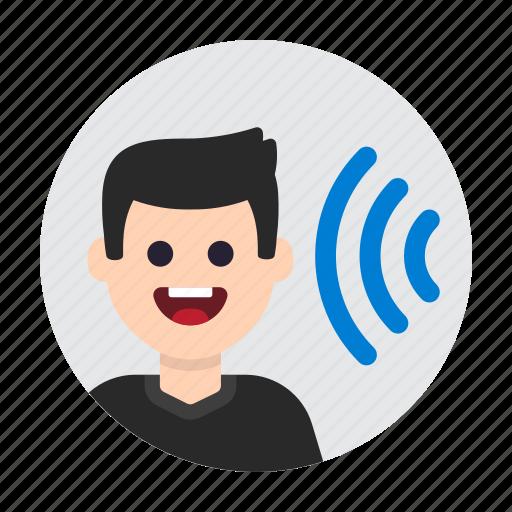 audio, avatar, ear, hear, listen, noise, sound icon