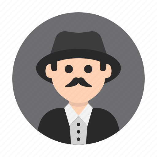 avatar, gentleman, man, mister, mustache, people, person icon