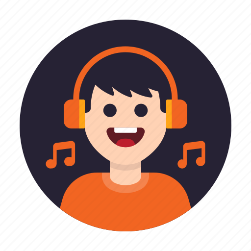 Avatar, happy, headphone, hobby, listen, music, song icon - Download on Iconfinder