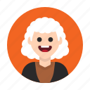 aged, avatar, eldery, grandma, old, senior, woman icon