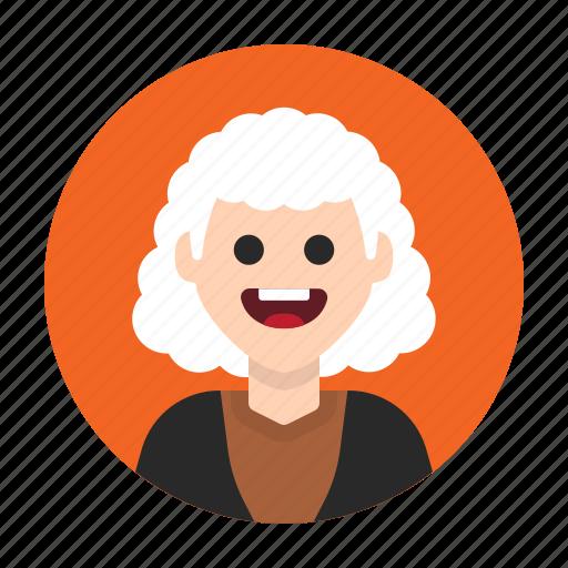 aged, avatar, eldery, grandma, old, senior, woman icon