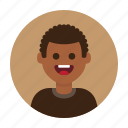 african, avatar, boy, happy, kid, man, people icon