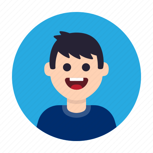 avatar, boy, happy, kid, man, people, smile icon