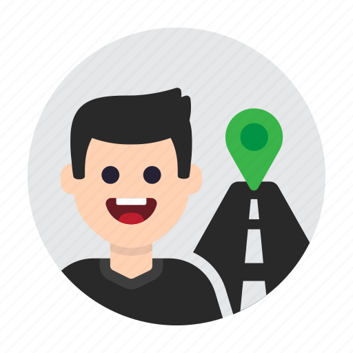destination, gps, location, navigation, road, route, travel icon