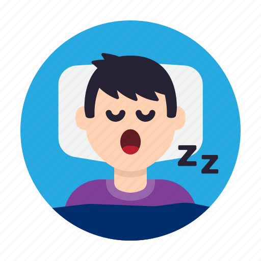 bed, nap, night, pillow, rest, sleep, snore icon