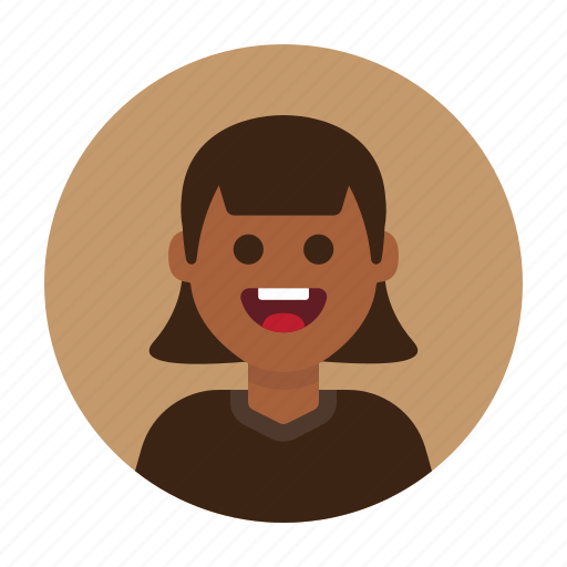 african, avatar, female, girl, happy, people, woman icon