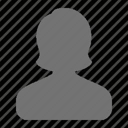 account, avatar, female, person, profile, user, woman icon