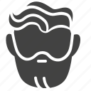 barber, beard, hair, head, man, people, service icon